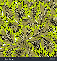 seamless pattern leaves vector organic ornament stock vector