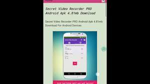 secret recorder pro apk secret recorder pro android apk