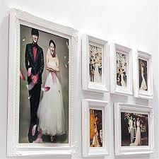 6pcs set pure white wood picture frames home decor wall photo