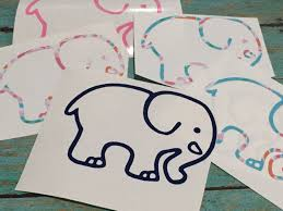 preppy decals ivory ella inspired elephant preppy lilly pulitzer ivory ella