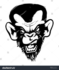 Bad Monkey Mad Angry Bad Chimp Ape Monkey Stock Vector 467692634 Shutterstock