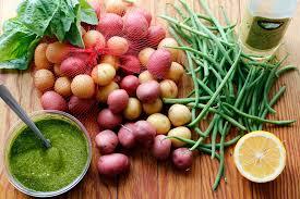 summer italian potato salad potato and green bean salad with