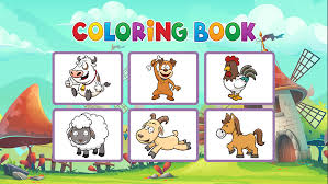 farm coloring book animals painting game kid apps 148apps