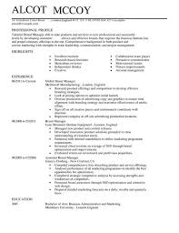 Product Manager Resume Sample Brand Manager Resume Sle 28 Images Hotel Sales Resume Toronto