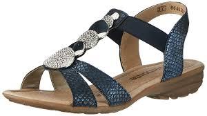 remonte women u0027s r3638 wedge heels sandals blue royal 14 shoes