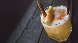 thanksgiving apple mocktail drink kombucha