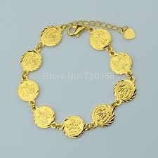 religious jewelry stores anniyo 18cm allah bracelet for women gold color muslim islamic
