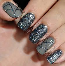 nail designs grey nail arts