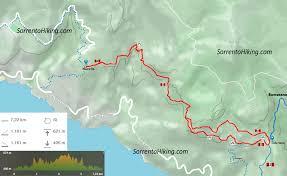 Map Of Amalfi Coast Path Of The Gods Sorrentohiking