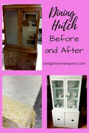 Dining Room Hutches by Furniture Restoration A Dining Room Hutch Before And After