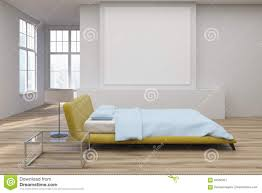 yellow bed wooden floor side stock illustration image 94556351