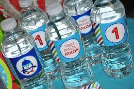 Decorate Water Bottle Penguin Water Bottle Labels Boy Penguin Birthday Party Winter