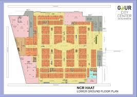 Mandir Floor Plan by Gaur City Centre Sadar Bazar Wholesale Bazar Noida Extension