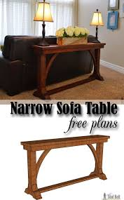 Plans To Make End Tables by Best 25 Narrow Table Ideas On Pinterest Very Narrow Console