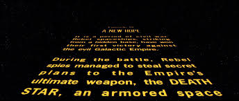 Star Wars Baby Shower Invitations - star wars a new hope opening crawl before brian de palma edited