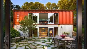 shipping container house plans with courtyard inside container