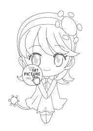mini hotaru shugo chara anime coloring pages for kids printable