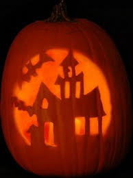 Free Scary Halloween Pumpkin Stencils - haunted house u0027 pattern free scary halloween pumpkin carving