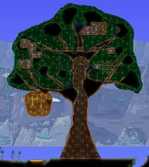 Terraria Map Download Images Giant Living Wood Treehouse Maps Projects Terraria