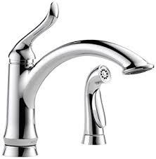 amazon delta kitchen faucets delta 4453 dst linden single handle kitchen faucet with spray