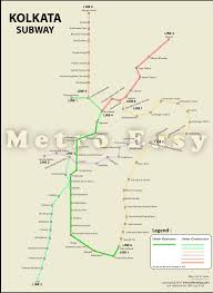 Metro Rail Map by Kolkata Metro U2014 Map Lines Route Hours Tickets