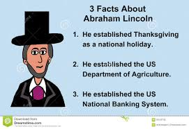 abraham lincoln facts stock illustration image 59132735
