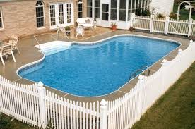 Backyard Pool Fence Ideas Inground Pools From Medallion Pools Pictures Landscaping