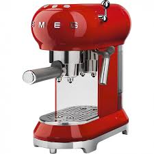 ecf01rduk red retro style coffee machine
