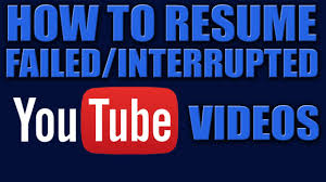 Resume Upload by How To Resume Failed Uploads Youtube Videos Upload Youtube
