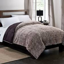 Gray Down Comforter Colormate Gray Plush Down Alternative Textured Comforter