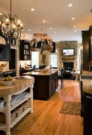 Open Kitchen Design Ideas by Kitchen Room Open Kitchen Designs With Wooden Floor And Fireplace