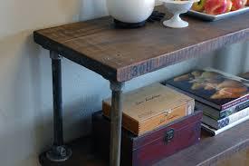 Industrial Console Table Industrial Console Table 308 Shelf Vintage Industrial