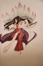 miko half dog demon desain character by nohurika on deviantart