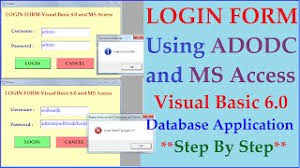 visual basic advanced tutorial advanced login system using visual basic 6 0 and ms access step by