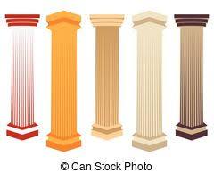 Greek Pedestal Vectors Illustration Of Set Of Ancient Greek Column Pillar Doric