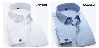 mens poplin dress shirt french cuff slim fit men shirt long sleeve