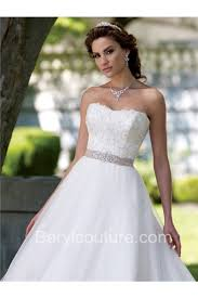 strapless wedding gowns princess gown strapless lace wedding dress with crystals sash