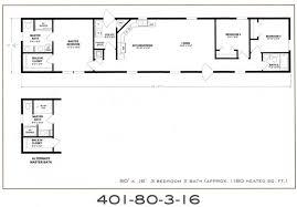3 Bedroom Trailer Floor Plans by 3 Bedroom Floor Plan F 401 Hawks Homes Manufactured U0026 Modular