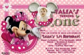 minnie mouse birthday invitations template best template collection