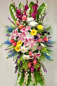 floral spray standing spray for funeral service sympathy flowers from babylon