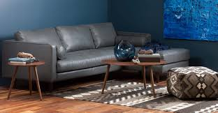 Mid Century Modern Sectional Sofa by Gray Leather Left Sectional Sofa Tufted Article Sven Modern