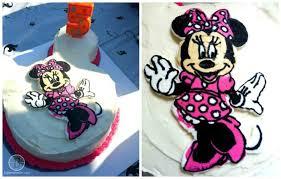 minnie mouse frozen buttercream transfer birthday cake big