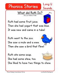 free phonics readingomprehension u math worksheets worksheet