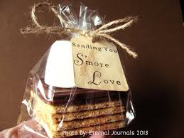 smores wedding favors 100 s mores wedding favor kit 100 sted stained
