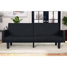 Microfiber Sleeper Sofa by Dhp Metro Split Futon Walmart Com