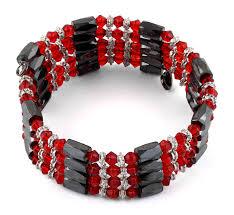 magnetic wrap bracelet images 32 quot magnetic hematite red crystal wrap bracelet necklace for sale gif