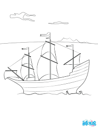 disney princess thanksgiving coloring pages boat mayflower