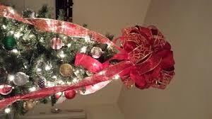monogram tree topper make christmas tree bow topper christmas lights decoration