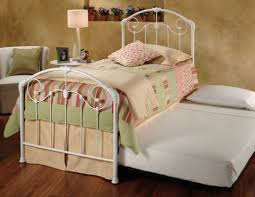 white twin size metal bed frame durable twin size metal bed