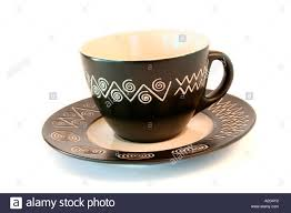 cup designs tea cup with african design stock photo royalty free image